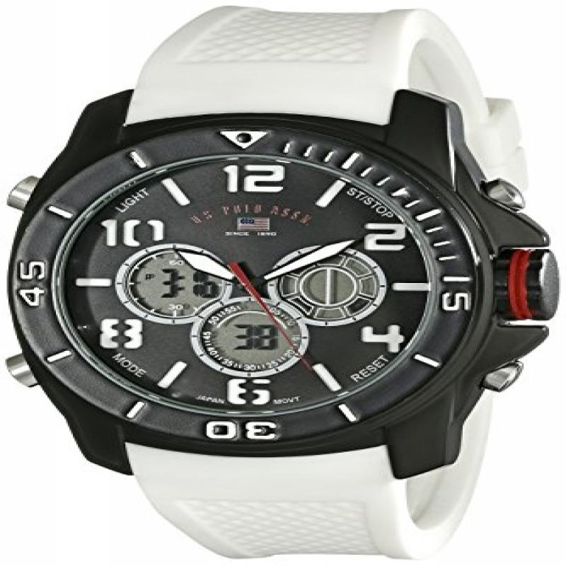 U.S. POLO ASSN Sport Men's US9184 Sport Watch with White ...