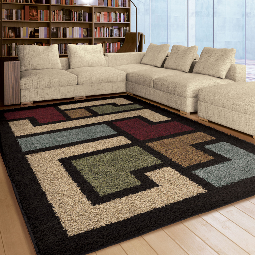 Orian Rugs Soft Shag Mapped Floor Multi Colored Area Rug
