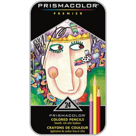 Prismacolor Premier Colored Woodcase Pencils, 24 Assorted Colors ...