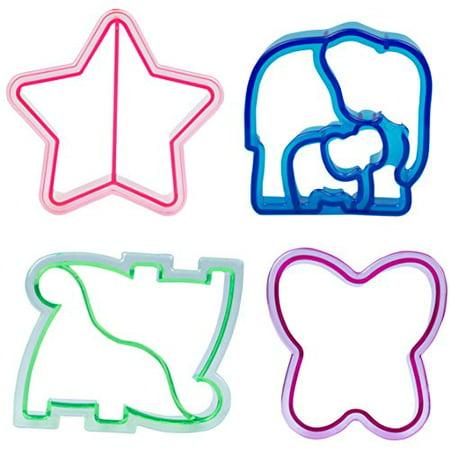 Sandwich Cutters - 4 pk - Fun Bread Cutters with Cute Designs - Heart, Star, Dino, - Halloween Sandwich Cutters Uk