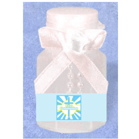 First Communion Boy 12pack Mini Bubble Favors (First Communion Gift Bags)