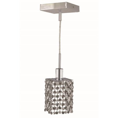 Elegant Lighting Mini Spectra Crystal Square Pendant Lamp
