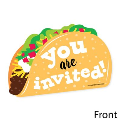 Mexican Fiesta Favor Boxes Big Dot of Happiness Taco /'Bout Fun Set of 12