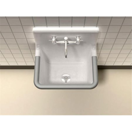 Clinic Service Sink (SONG S-7031-2-70 Commercial Service Sink White with 2 Faucet Holes)