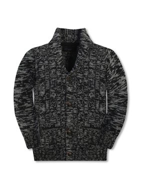 Gioberti Kids and Boys 100% Cotton Knitted Shawl Collar Cardigan Sweater