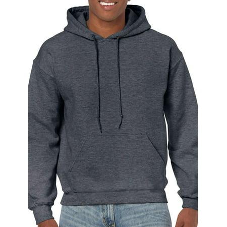 Gildan Men's and Big Men's Heavy Blend Preshrunk Hooded Sweatshirt, up to Size 3XL