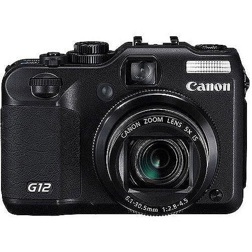 Canon G12POWRSHT Digital Camera 10 Megapixels 5x Optical 4-2/5inx2inx3in Black