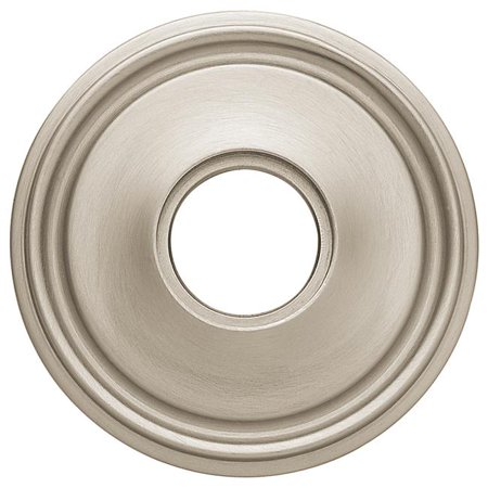 Satin Nickel Estate Egg - Baldwin 5070150 2.62 in. Estate Rosettes for Passage Functions - Satin Nickel