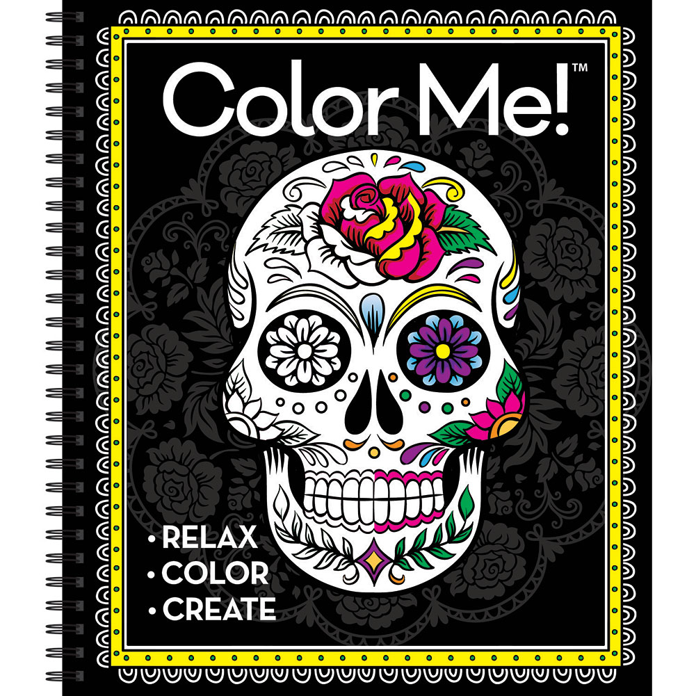 Color Me Cool Sugar Skulls Coloring Book Spiral Softcover 64 Pg