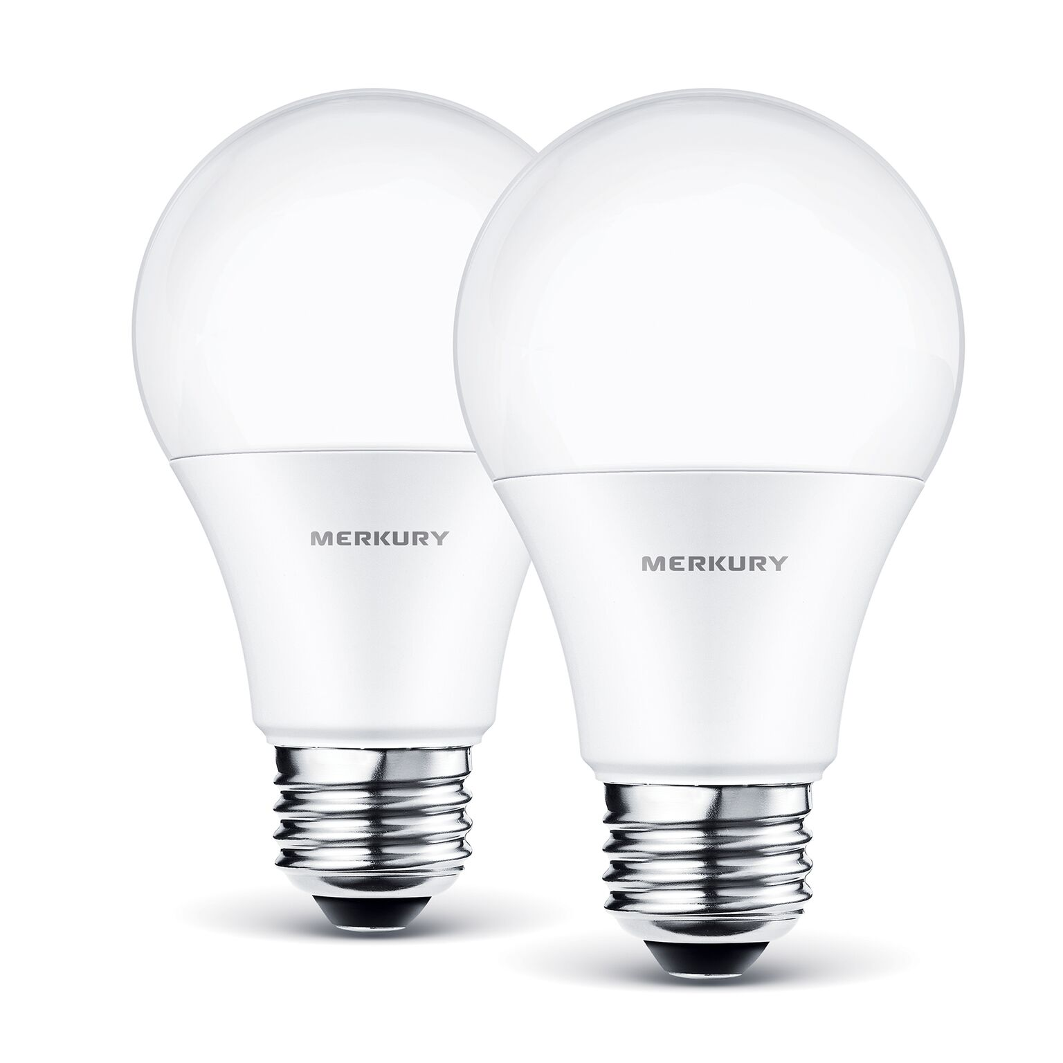Merkury Innovations A19 Smart Light Bulb, 60W Dimmable White LED, 2-Pack