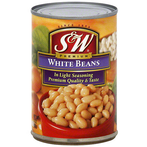 S&W Premium White Beans, 15 oz (Pack of 12)