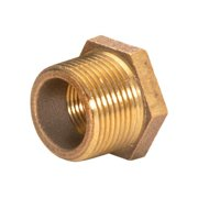 JMF Hex Bushing 2 in. x 1-1/2 in. Red Brass Less than 0.25 percent