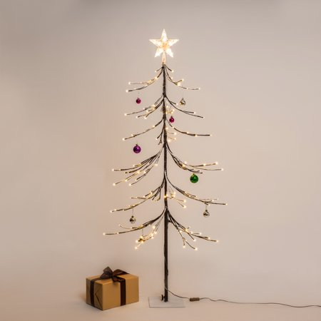 5ft prelit christmas tree fir led lighted tree with 144 warm white leds