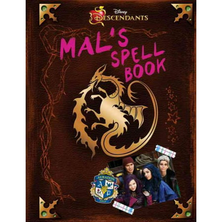 Descendants: Mal's Spell Book (Hardcover) (Halloween Spell Book Pages)