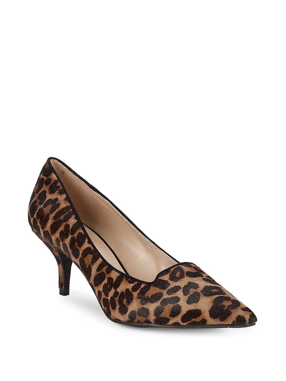 Peony Leopard Print Calf Hair & Leather Pumps