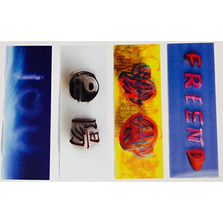 3D Motion I Love You - Best Friends - Peace And Love - Yin-Yang Symbol - Bookmarks and Rulers For (Symbols That Mean Best Friends)
