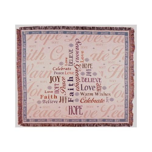 """Christmas Hope Tree Holiday Tapestry Throw Blanket 50"""" x 60"""""""