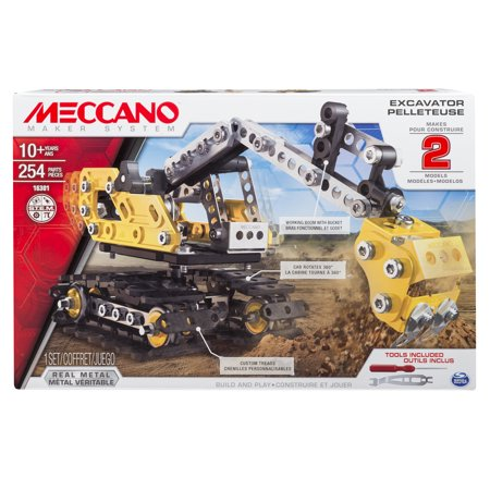 Meccano-Erector, 2-in-1 Model Set, Excavator and - Erector Sets