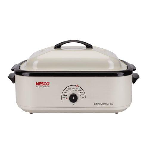 Nesco 22-Pound Turkey Roaster Oven, 18-Quart Capacity, White