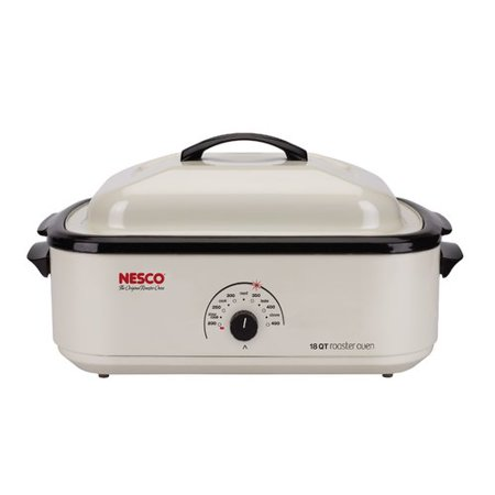Nesco 22-Pound Turkey Roaster Oven, 18-Quart Capacity, White