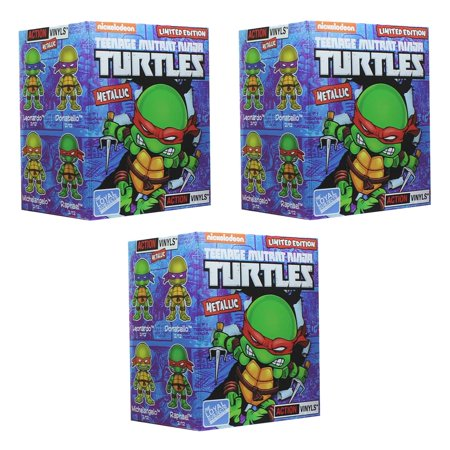 Teenage Mutant Ninja Turtles Blind Box Metallic Action Vinyls - Lot of 3 (Ninja Turtles Blind Box Set)