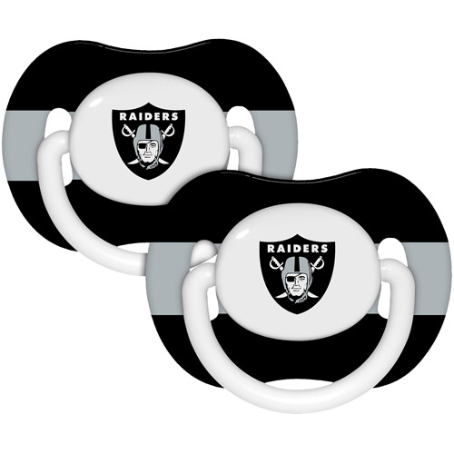 Baby Fanatic NFL 2-Pack Baby Pacifiers, Oakland Raiders