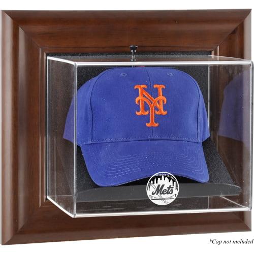 MLB - New York Mets Framed Wall Mounted Logo Cap Display Case