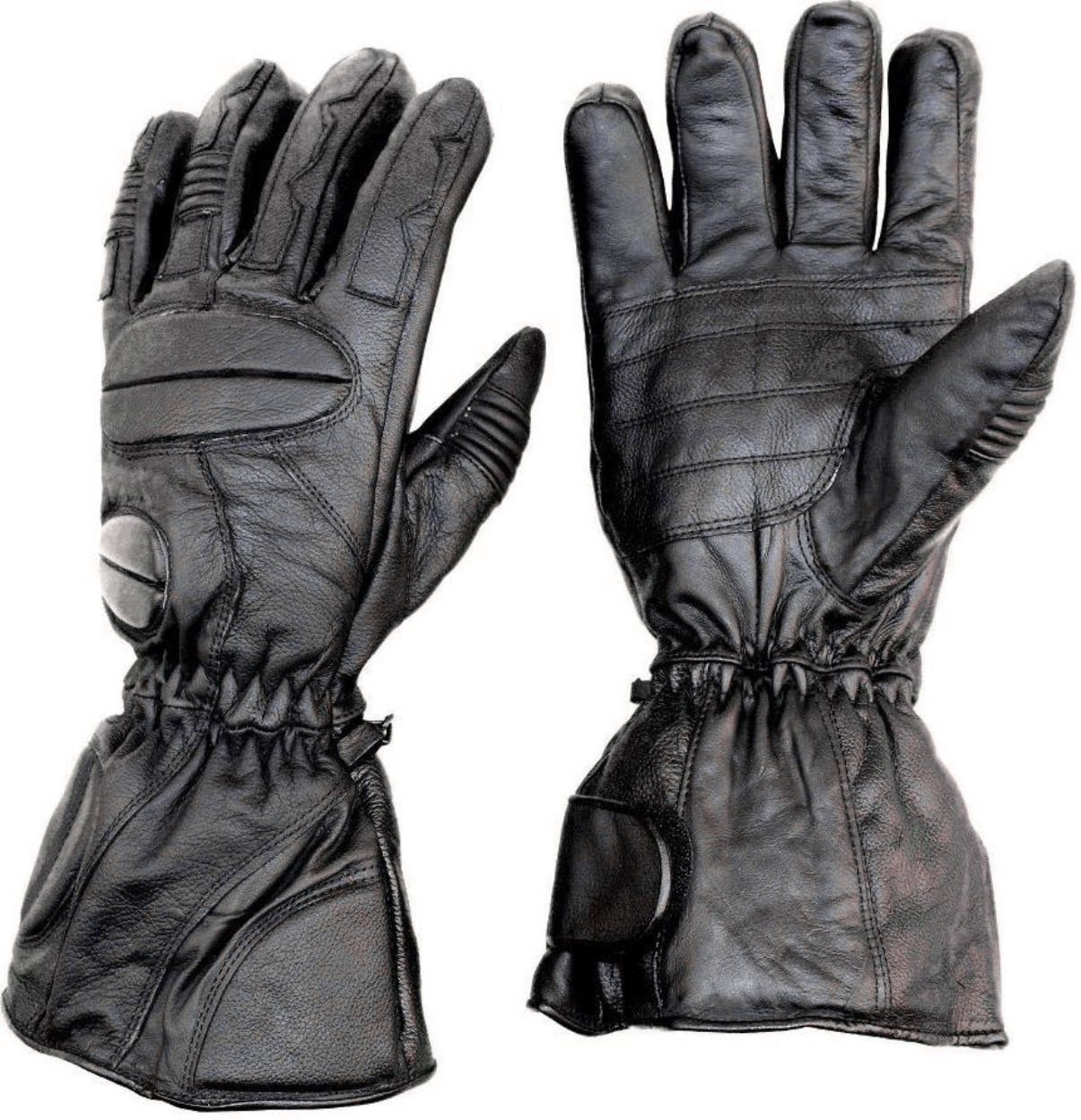 Premium Leather Snowmobile Gloves Gauntlet Snow Ski Cold Weather Size Large
