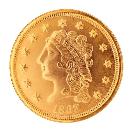 American Coin Treasures Classic Head $2.50 Gold Piece 1834-1839 Replica Coin