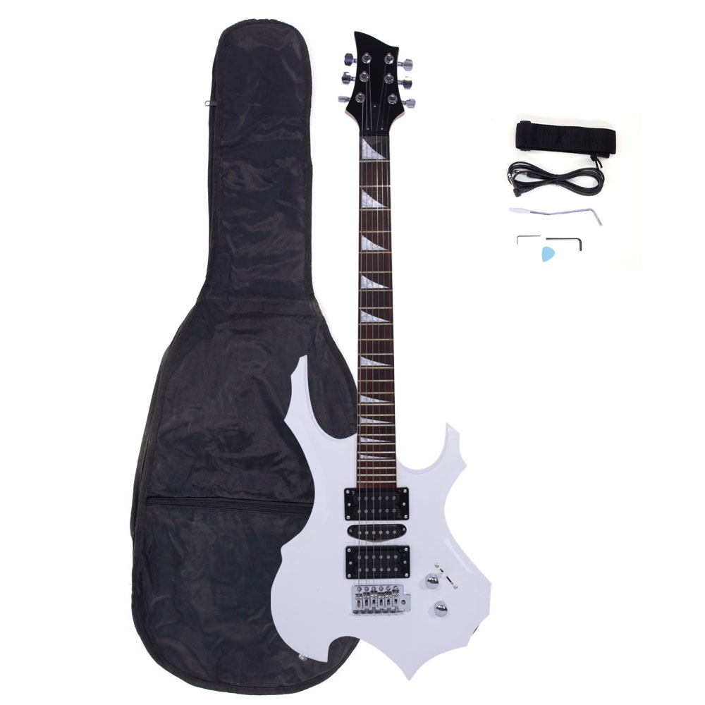 Zimtown Flame Type Beginner Electric Guitar + Bag Case + Cable + Strap + Picks 3 Colors