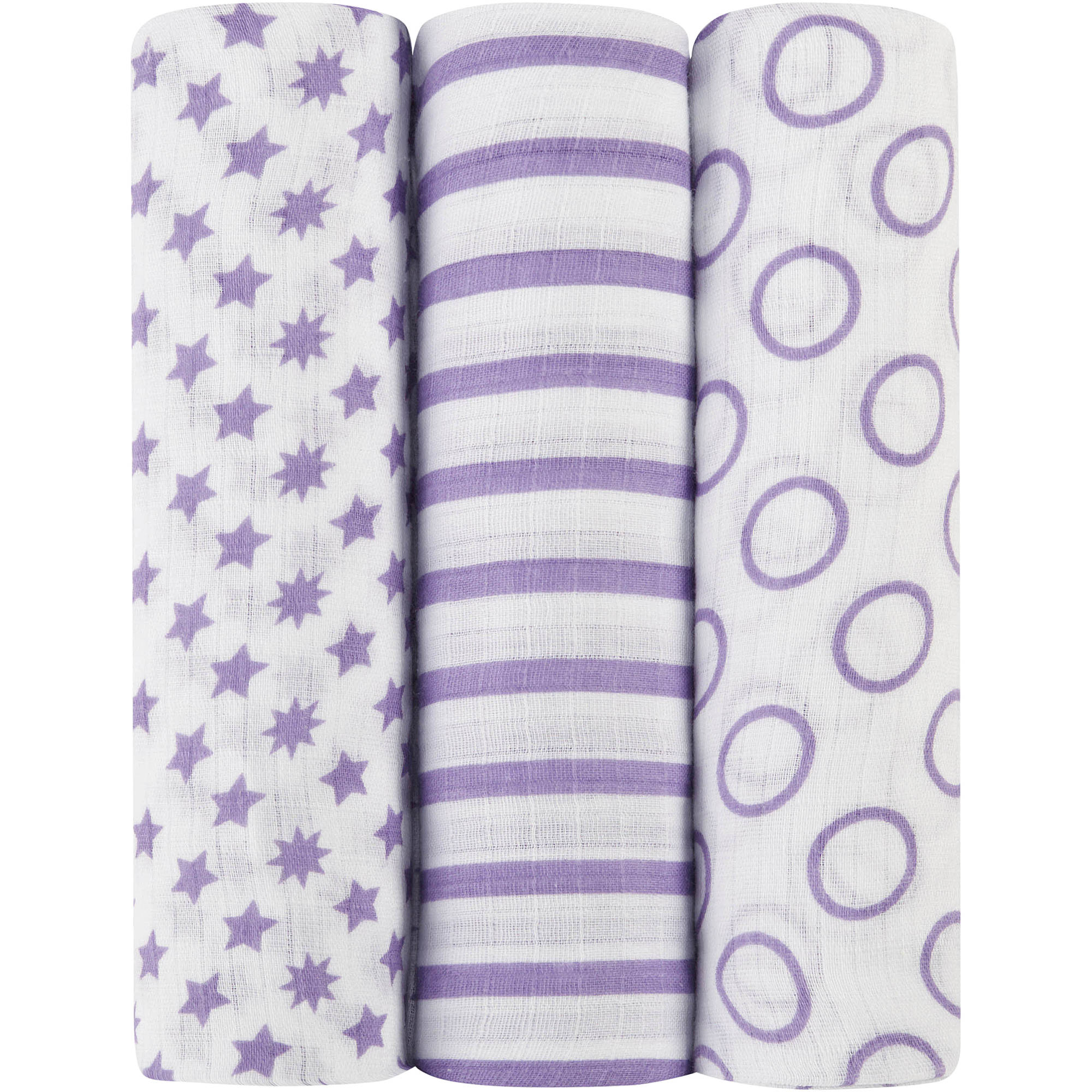 ideal baby by the makers of aden + anais Muslin Swaddles, 3pk, Cherub