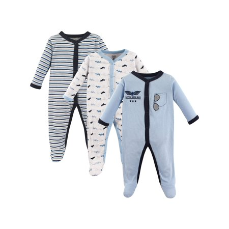 Luvable Friends Baby boy sleep 'n play, 3-pack