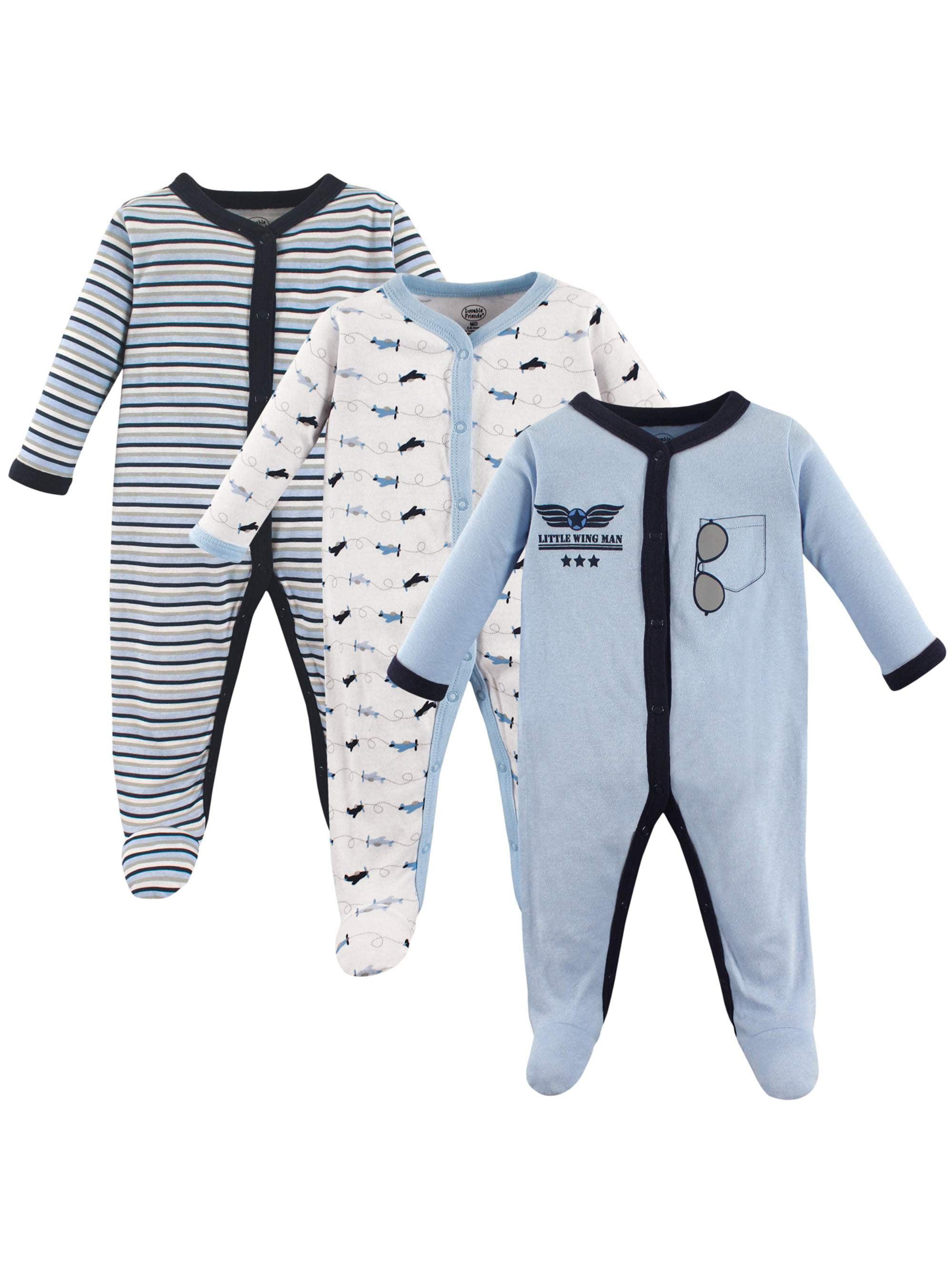 Baby Boy Sleep 'N Play, 3-pack
