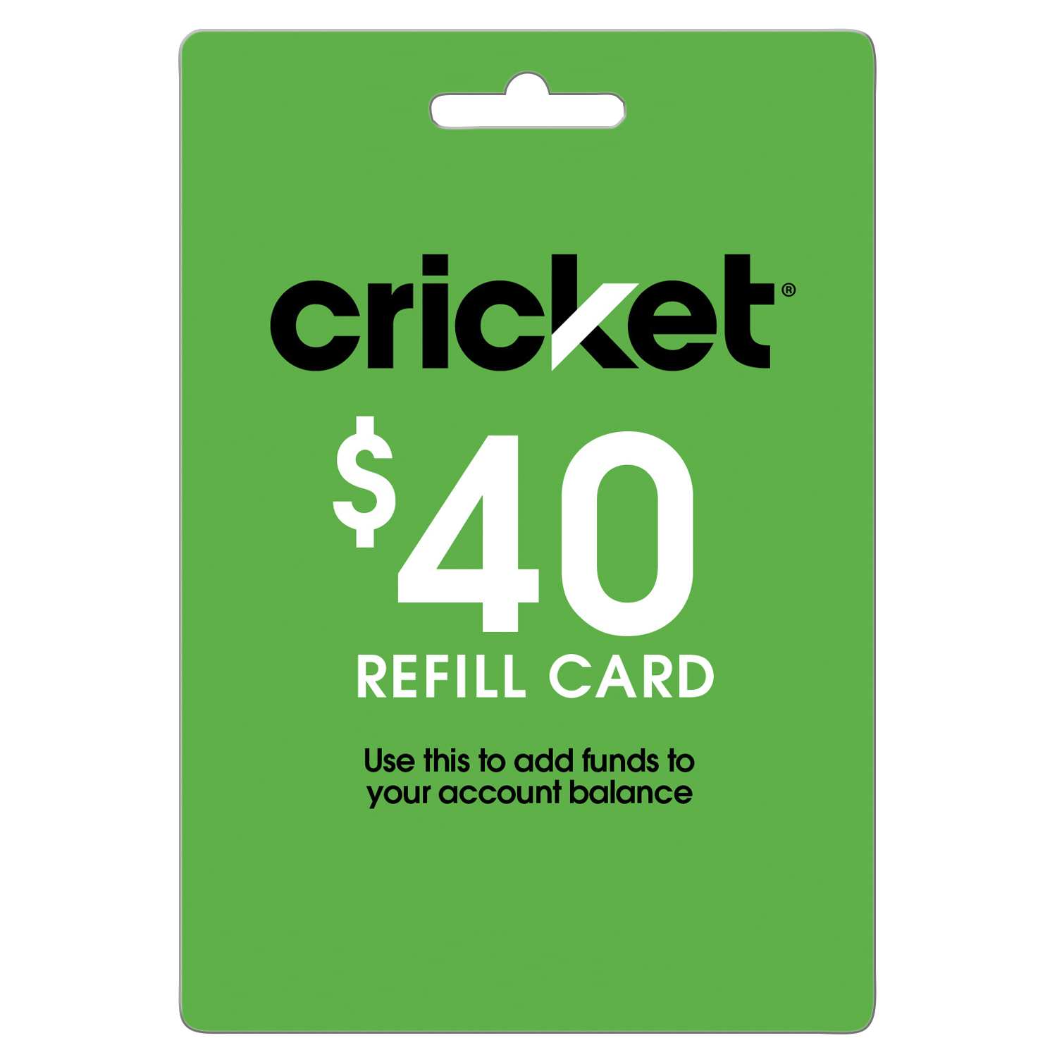 Cricket Refill $40 (Email Delivery)