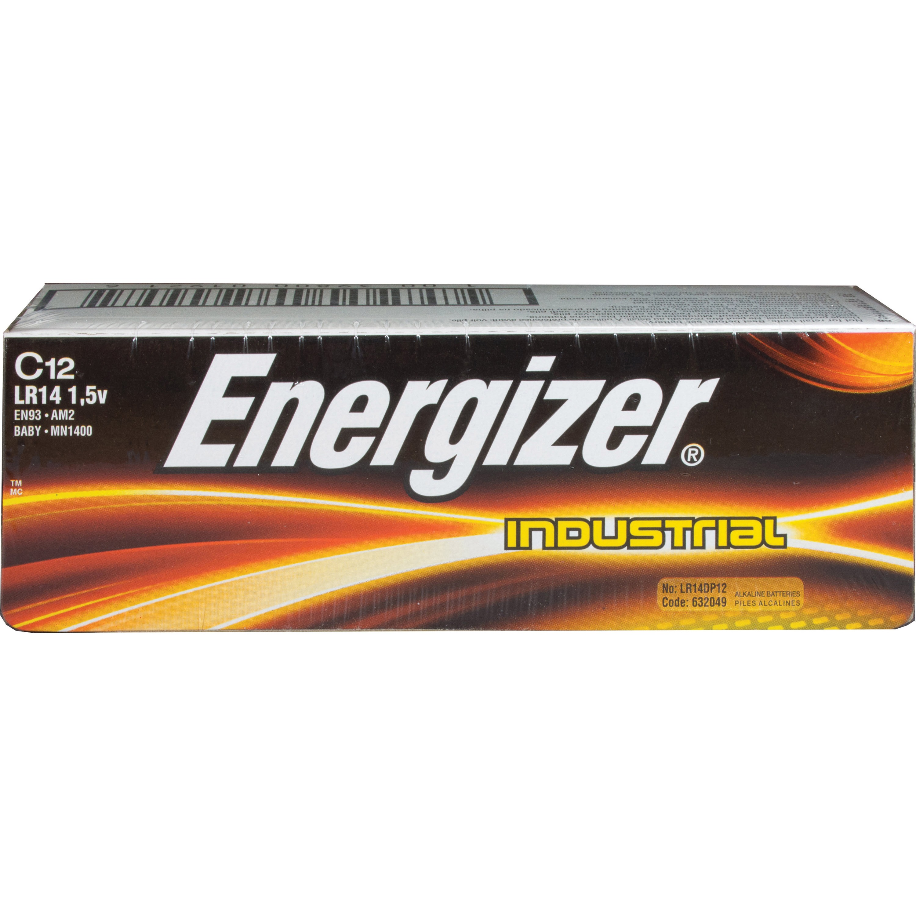 Energizer Industrial Alkaline C Batteries, 12 Count