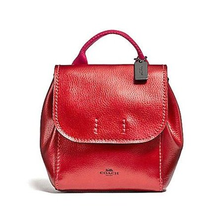 61b211e9f9b Coach - NEW WOMEN'S COACH (F16605) DERBY METALLIC RED PINK PEBBLED LEATHER  BACKPACK BAG - Walmart.com