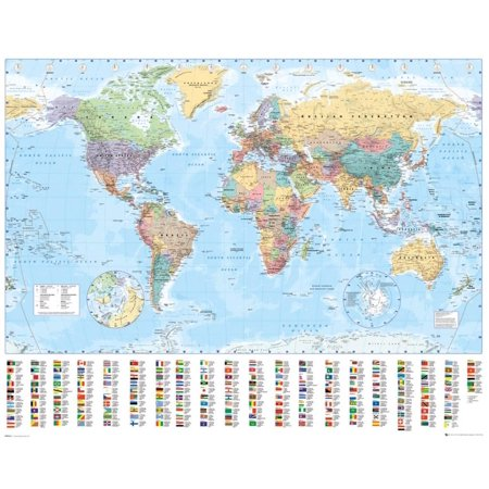 World Map 2015 Poster (World Relief Map)