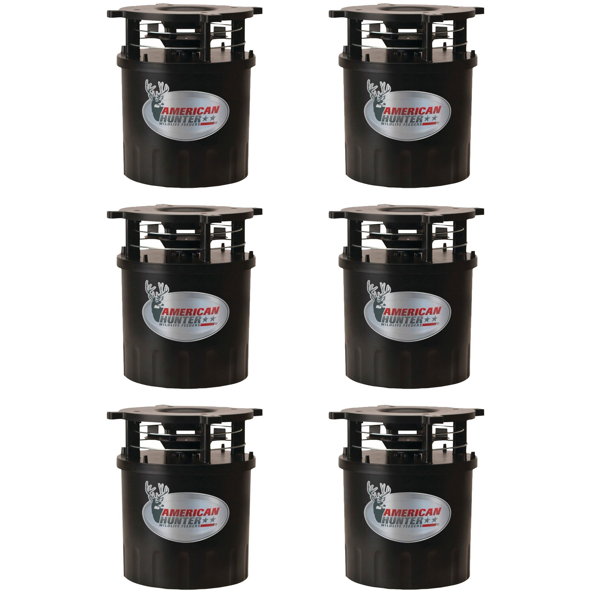 American Hunter R-Pro Wildlife Feeder Kit with Timer & Varmint Guard (6 Pack)