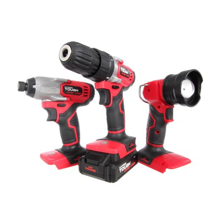 Hyper Tough 20v Lithium-ion 3-tool Kit