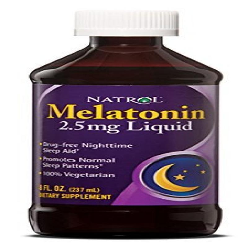 Natrol Melatonin 2.5mg Liquid, 8 Fluid Ounce