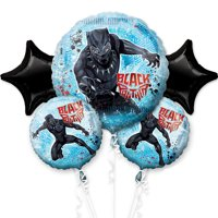 Black Panther Foil Balloon Bouquet