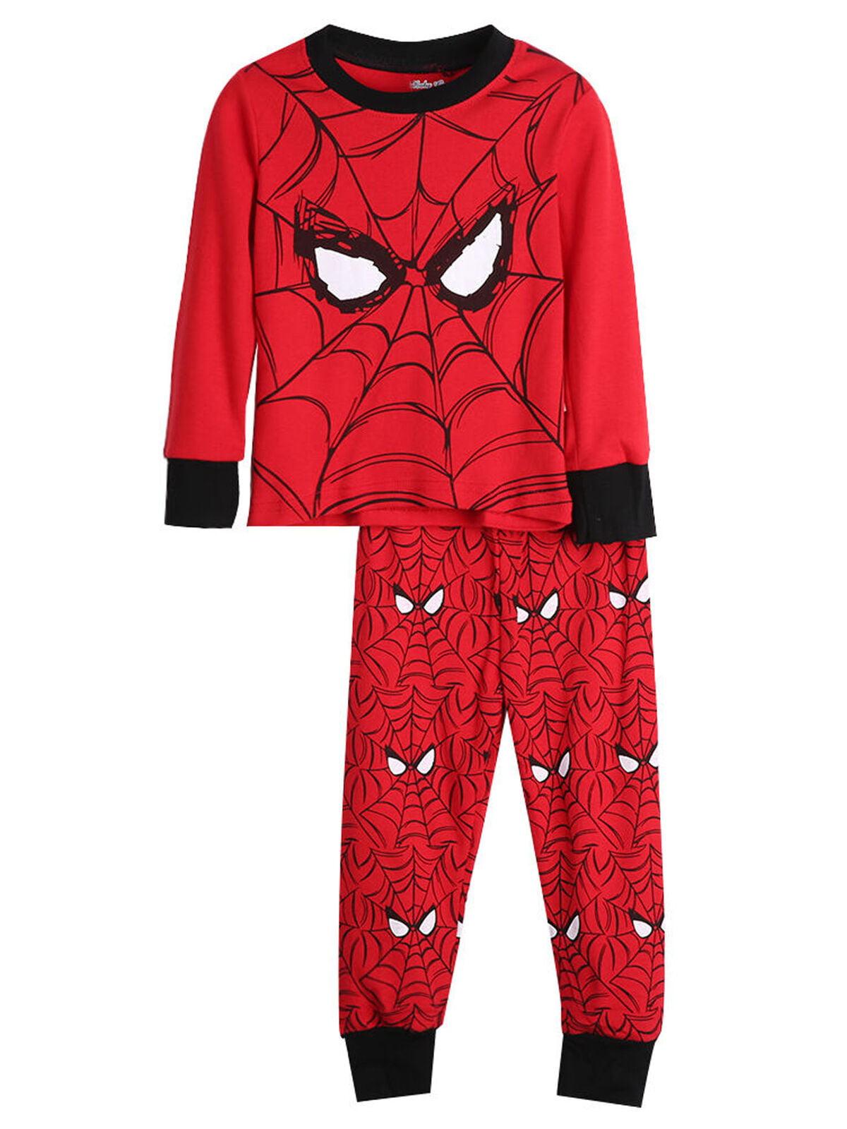 Spiderman kids boys girls Pyjamas tshirt top sleepwear lounge pajamas