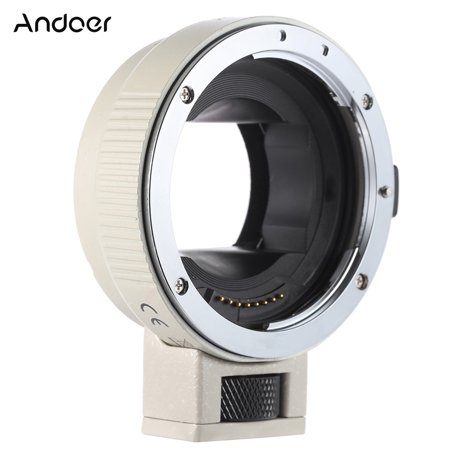 Andoer Auto Focus AF EF-NEXII Adapter Ring for Canon EF EF-S Lens to use for Sony NEX E Mount 3/3N/5N/5R/7/A7/A7R/A7S/A5000/A5100/A6000 Full