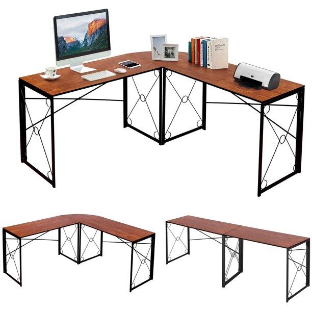 Vecelo L Shaped Computer Corner Craft, Corner Craft Desk