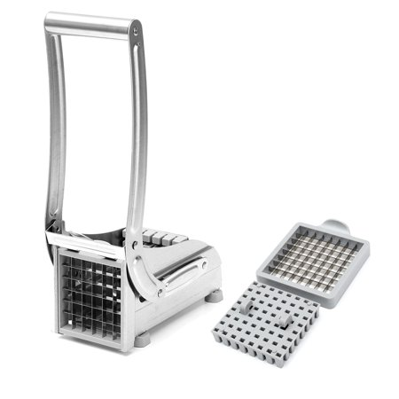 Stainless Steel French Fry Cutter Home Potato Chipper Vegetable Slicer Chopper Dicer with 2 Interchangeable Grid