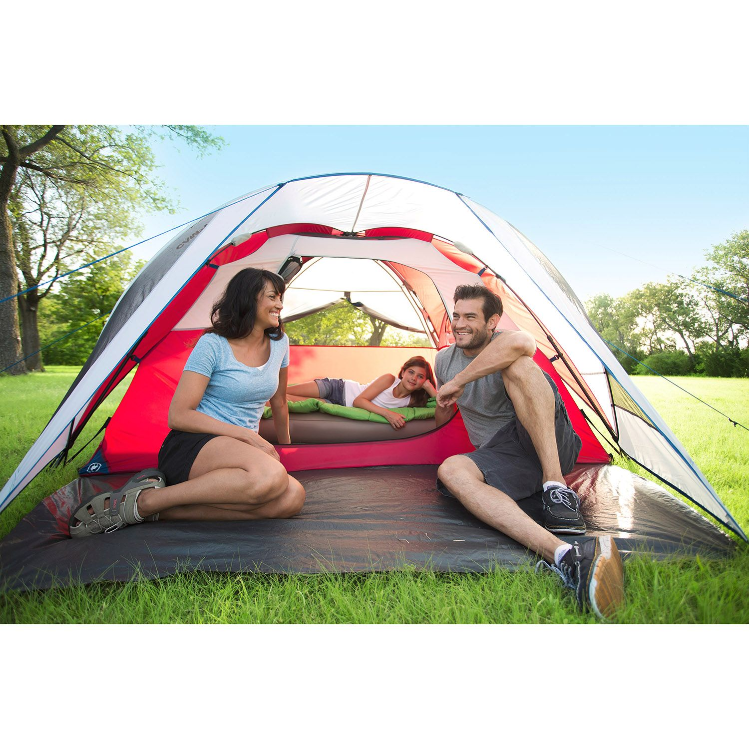 sc 1 st  Walmart & Campvalley 4-Person Instant Dome Tent Red - Walmart.com
