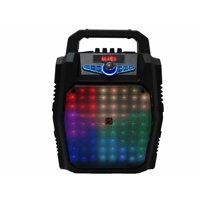 "PA Karaoke Wireless Portable Speaker w/ 8"" Subwoofer Sound System Big LED MIC"