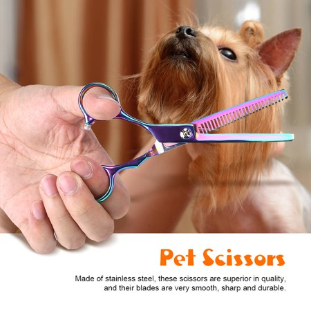 LHCER Pet Grooming Scissors Kit Dog Cat Hairdressing Shears Set Cutting Thinning Haircut Tools,Pet Scissors, Pet Grooming Scissors - image 6 of 7