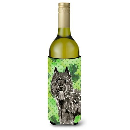 Shamrocks Bouvier des Flandres Wine Bottle Beverge Insulator Hugger CK1811LITERK