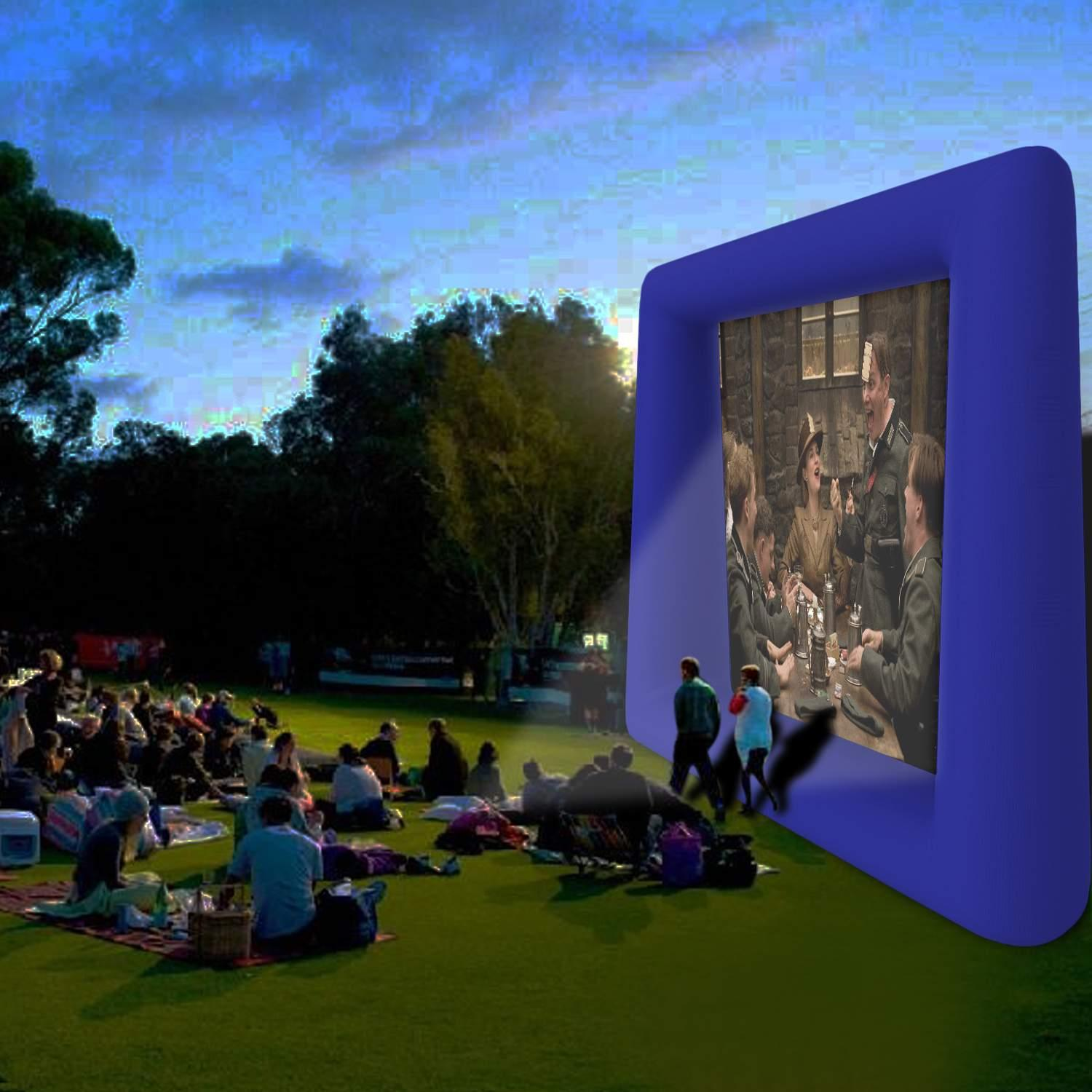 Clearance&Sale!!! Inflatable Mega Movie Screen Projection Screen Movie Cinema Inflatable Movie Screen for Outdoor Parties is Guaranteed to Thrill and Excite (Fan pump not included)